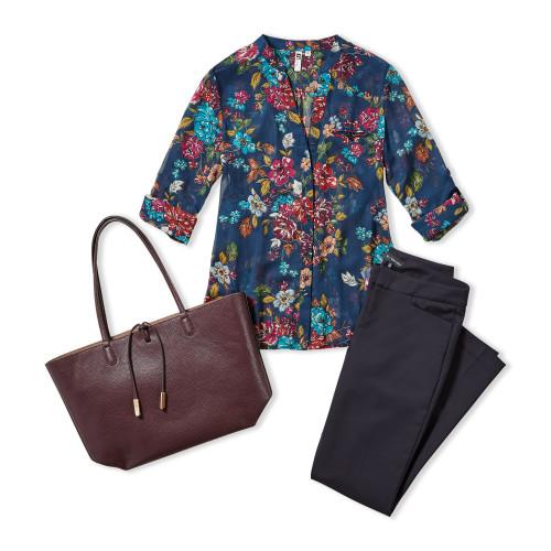 Business Casual Dress Code: Printed Top