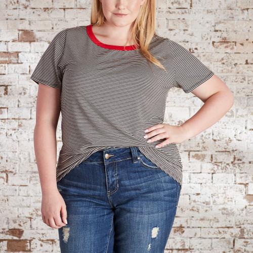 Utility Jackets & Cargo Pants: Striped T-Shirt