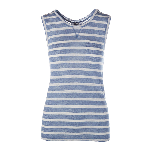Summer Blue: Striped Top