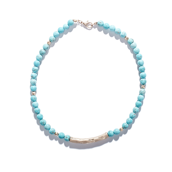 Summer Blue: Beaded Bracelet