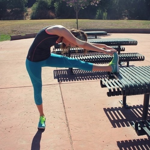 post workout stretch: full leg