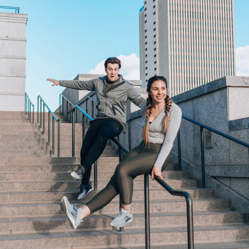 couples workouts: stairs