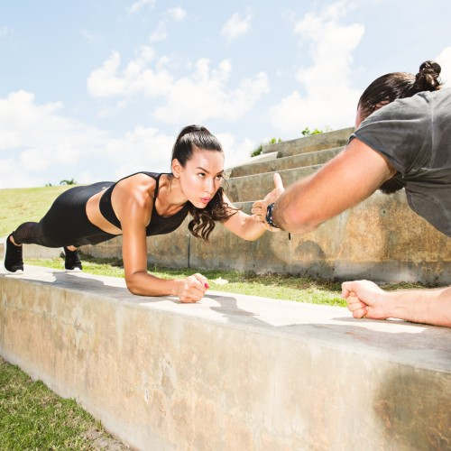 couples workouts: plank