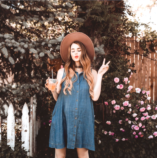 Cute Outfits for the 4th of July: Chambray Dress