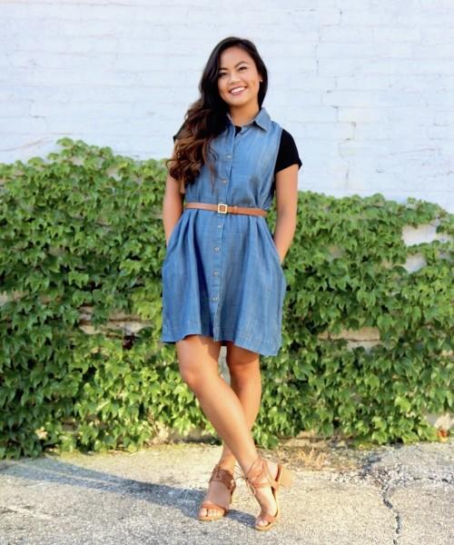 Style a basic Tee: Dress