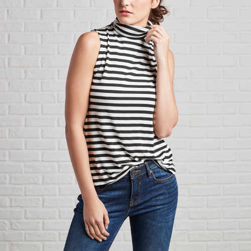 Utility Jackets & Cargo Pants: Striped Top