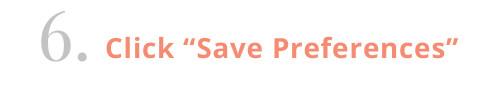 Wantable quiz: save preferences