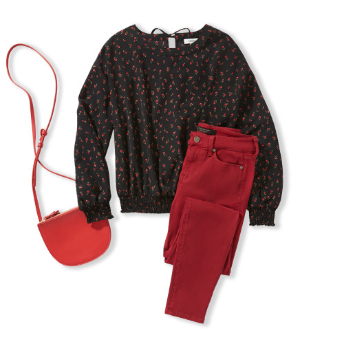 Fall Color Trends: Tonal Red Outfit