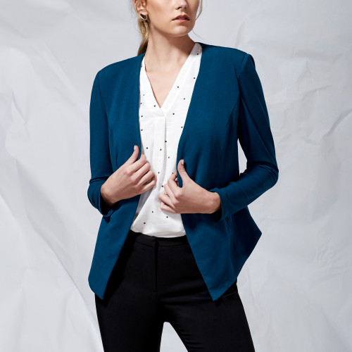 fall and winter essentials: open-front blazer