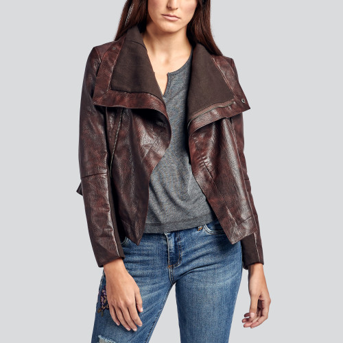 fall and winter essentials: modern leather jacket