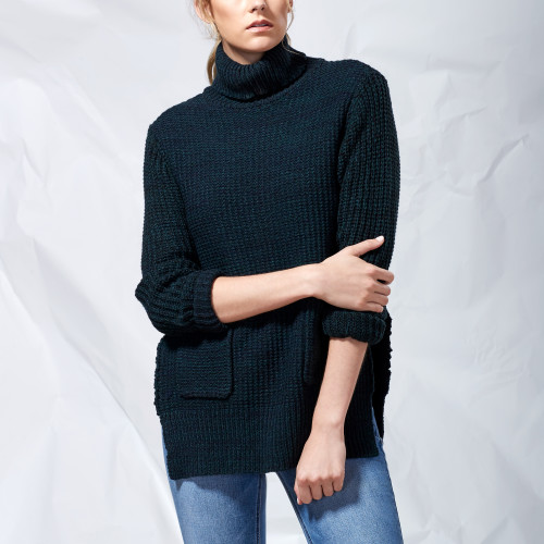 fall and winter essentials: oversized turtleneck sweater