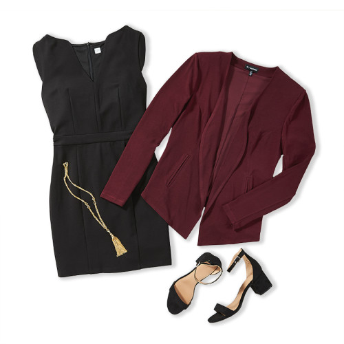 inverted triangle body shape: work outfit