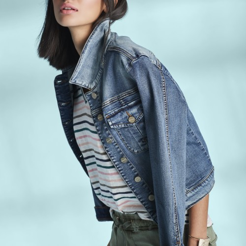 how to style a denim jacket - summer