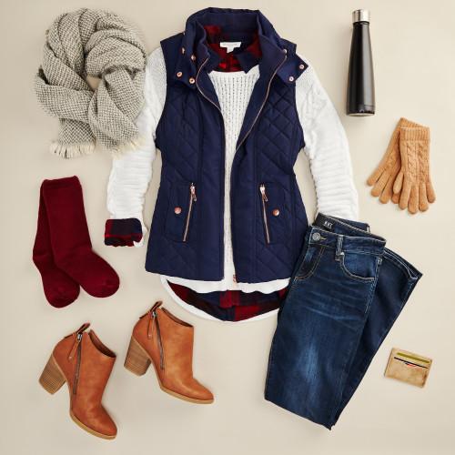winter layering: vest
