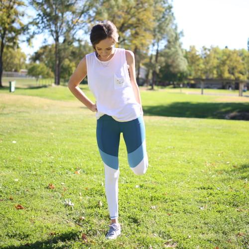 post workout stretch: quad