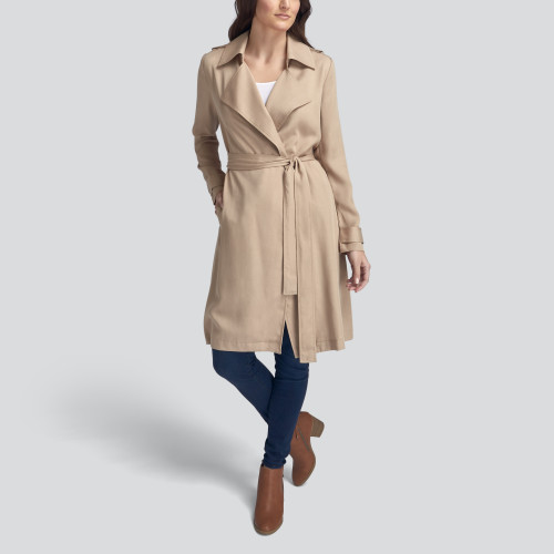 winter to spring: trench coat