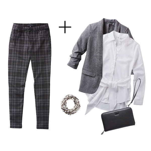 Plaid Looks: Office Classic